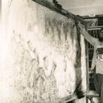 Oscar Marziali pintando