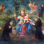Divina Pastora con novicios capuchinos, siglo XVIII