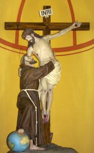 Abrazo de san Francisco de Asís